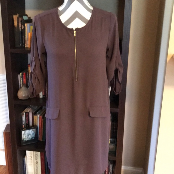 Collective Concepts Dress SIZE SMALL Brown